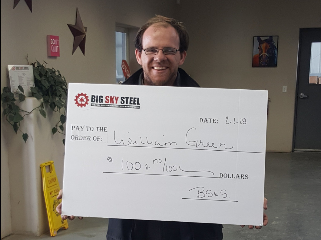 Meet Our January Winner William Green!